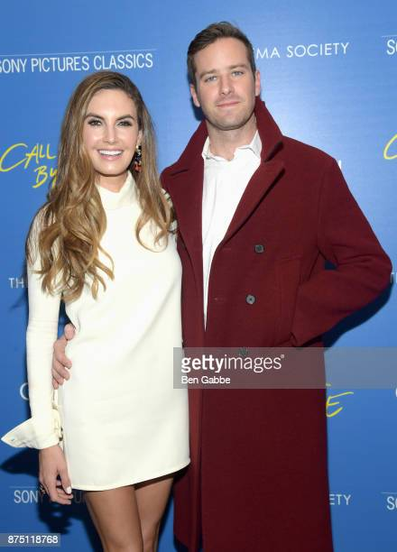 Actress Elizabeth Chambers and actor Armie Hammer attend The Cinema Society screening of Sony Pictures Classics' 'Call Me By Your Name' at Museum of...