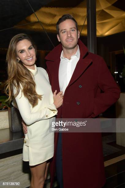 Actress Elizabeth Chambers and actor Armie Hammer attend The Cinema Society screening of Sony Pictures Classics' 'Call Me By Your Name' after party...