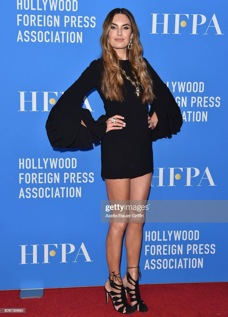 Actress Elizabeth Chambers arrives at the Hollywood Foreign Press Association's Grants Banquet at the Beverly Wilshire Four Seasons Hotel on August 2, 2017 in Beverly Hills, California.