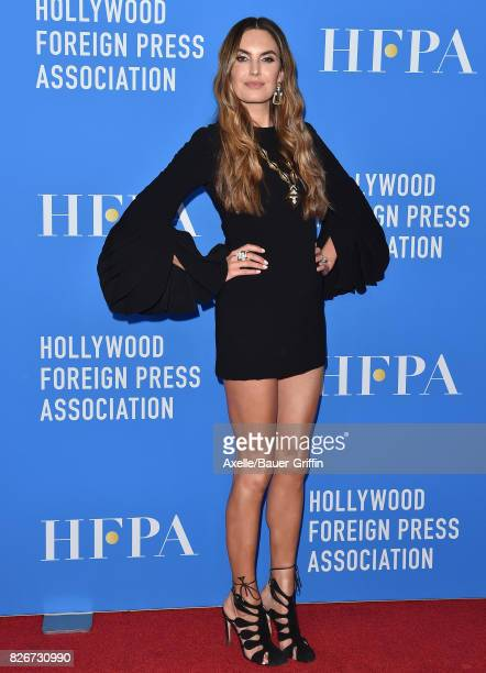 Actress Elizabeth Chambers arrives at the Hollywood Foreign Press Association's Grants Banquet at the Beverly Wilshire Four Seasons Hotel on August 2...