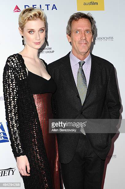 Actress Elizabeth Debicki and actor Hugh Laurie attend the 4th Annual Australians in Film Awards Benefit Dinner and Gala at InterContinental Hotel on...