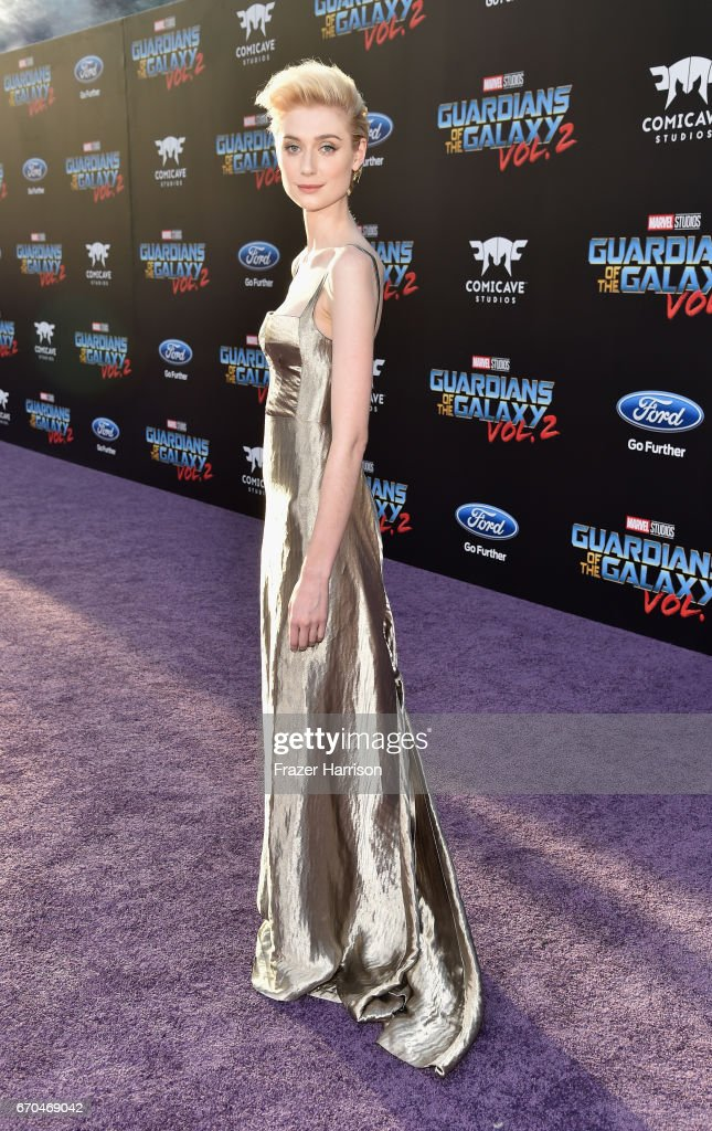 Actress Elizabeth Debicki arrives at the premiere of Disney and Marvel's 'Guardians Of The Galaxy Vol. 2' at Dolby Theatre on April 19, 2017 in Hollywood, California.