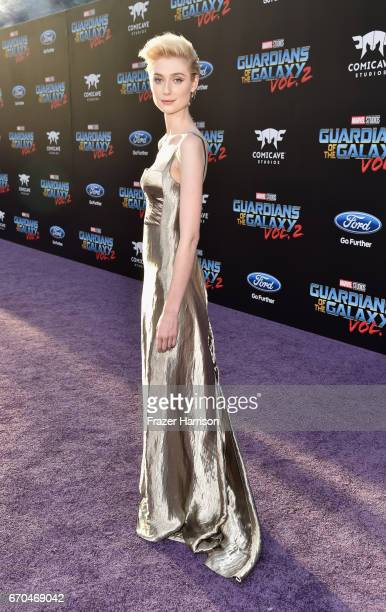 Actress Elizabeth Debicki arrives at the premiere of Disney and Marvel's 'Guardians Of The Galaxy Vol 2' at Dolby Theatre on April 19 2017 in...