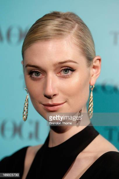 Actress Elizabeth Debicki arrives at the Tiffany Co Great Gatsby dinner at Rockpool on May 23 2013 in Sydney Australia