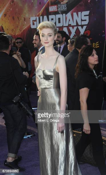 Actress Elizabeth Debicki arrives for the Premiere Of Disney And Marvel's Guardians Of The Galaxy Vol 2 held at Dolby Theatre on April 19 2017 in...