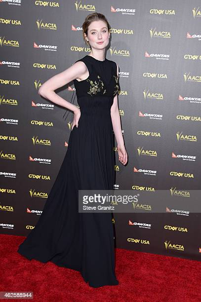 Actress Elizabeth Debicki attends the 2015 G'Day USA Gala featuring the AACTA International Awards presented by Qantas at Hollywood Palladium on...