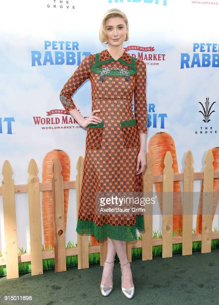 Actress Elizabeth Debicki attends the Los Angeles Premiere of 'Peter Rabbit' at The Grove on February 3 2018 in Los Angeles California
