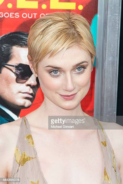 Actress Elizabeth Debicki attends 'The Man From UNCLE' New York premiere at Ziegfeld Theater on August 10 2015 in New York City