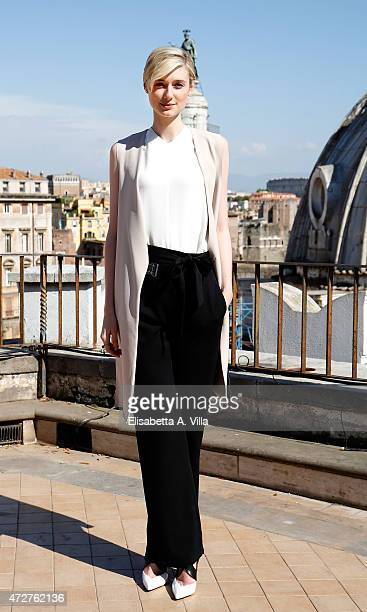 Actress Elizabeth Debicki attends 'The Man From UNCLE' Photocall at Terrazza Civita on May 9 2015 in Rome Italy