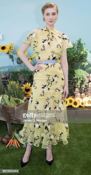 Actress Elizabeth Debicki attends the Peter Rabbit Australian Premiere on March 17 2018 in Sydney Australia