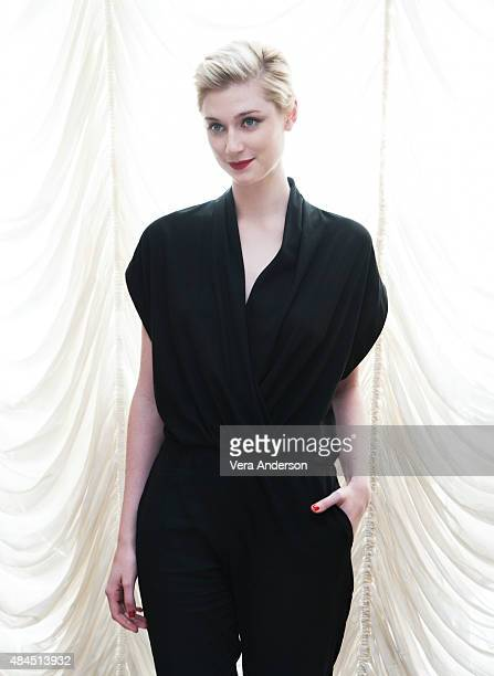 Actress Elizabeth Debicki is photographed at 'The Man From UNCLE' Press Conference at Claridge's Hotel on July 23 2015 in London England