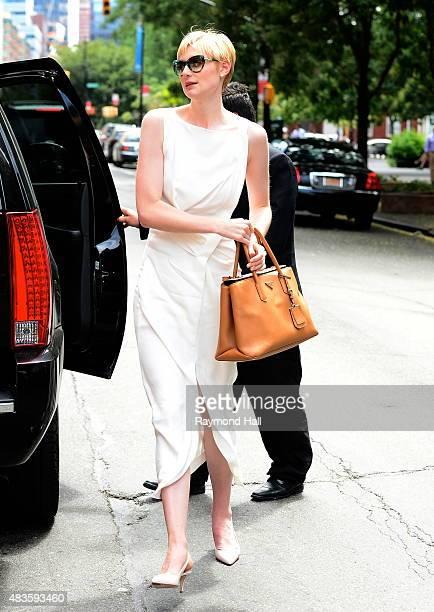 Actress Elizabeth Debicki is seen walking in Soho August 10 2015 in New York City