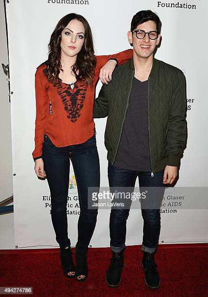 Actress Elizabeth Gillies and actor Matt Bennett attend the Elizabeth Glaser Pediatric AIDS Foundation's 26th A Time For Heroes family festival at...