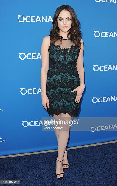 Actress Elizabeth Gillies arrives at A Concert For Our Oceans at Wallis Annenberg Center for the Performing Arts on September 28 2015 in Beverly...