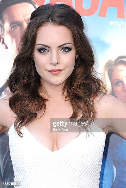 Actress Elizabeth Gillies arrives at the Premiere Of Warner Bros 'Vacation' at Regency Village Theatre on July 27 2015 in Westwood California