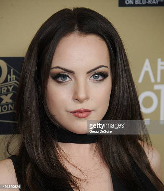 Actress Elizabeth Gillies arrives at the premiere screening of FX's American Horror Story Hotel at Regal Cinemas LA Live on October 3 2015 in Los...