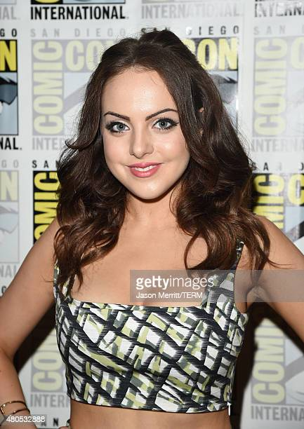 Actress Elizabeth Gillies attends FX's 'SexDrugsRockRoll' Press Line during ComicCon International 2015 at Hilton Bayfront on July 12 2015 in San...