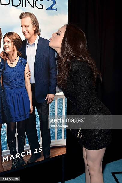 Actress Elizabeth Gillies attends My Big Fat Greek Wedding 2 New York Premiere at AMC Loews Lincoln Square 13 theater on March 15 2016 in New York...