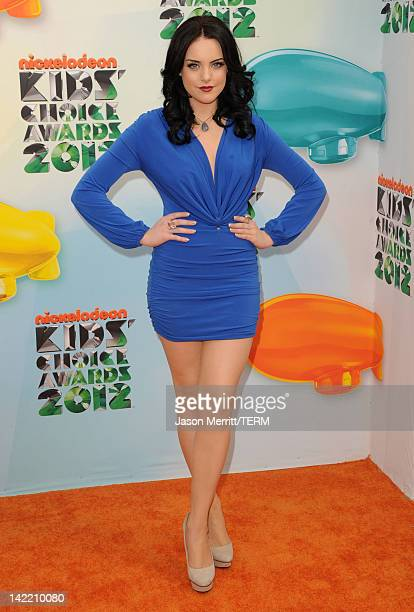 Actress Elizabeth Gillies attends Nickelodeon's 25th Annual Kids' Choice Awards held at Galen Center on March 31 2012 in Los Angeles California