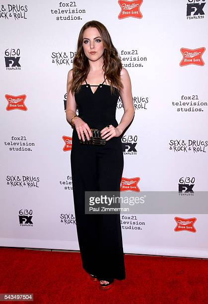 Actress Elizabeth Gillies attends 'SexDrugsRockRoll' Season 2 Premiere at AMC Loews 34th Street 14 theater on June 28 2016 in New York City