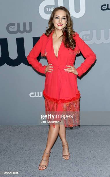 Actress Elizabeth Gillies attends the 2018 CW Network Upfront at The London Hotel on May 17 2018 in New York City