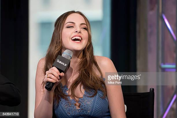 Actress Elizabeth Gillies attends the AOL Build Series to discuss the FX show 'SexDrugsRockRoll' at AOL Studios In New York on June 30 2016 in New...