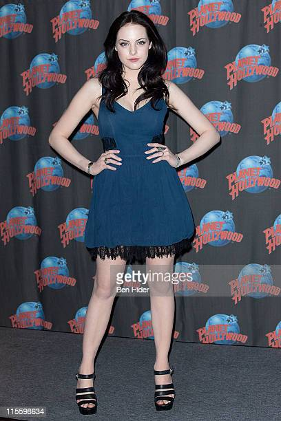 Actress Elizabeth Gillies visits Planet Hollywood Times Square on June 8, 2011 in New York City.
