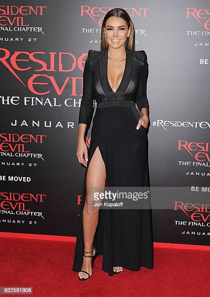 "Actress Elizabeth Gutierrez arrives at the Los Angeles premiere ""Resident Evil: The Final Chapter"" at Regal LA Live: A Barco Innovation Center on..."