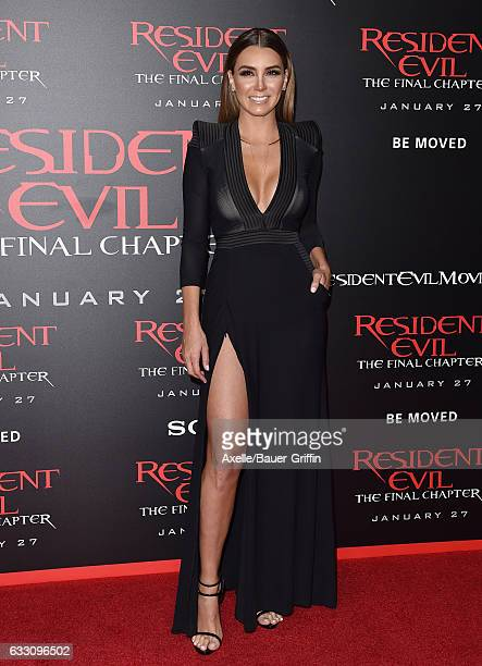 Actress Elizabeth Gutierrez arrives at the premiere of Sony Pictures Releasing's 'Resident Evil: The Final Chapter' at Regal LA Live: A Barco...