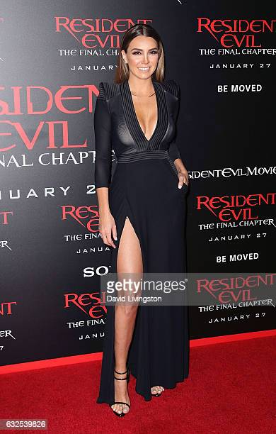 "Actress Elizabeth Gutierrez attends the premiere of Sony Pictures Releasing's ""Resident Evil: The Final Chapter"" at Regal LA Live: A Barco Innovation..."