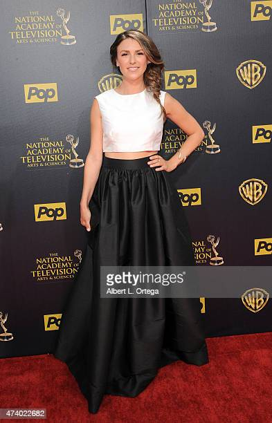 Actress Elizabeth Hendrickson arrives for The 42nd Annual Daytime Emmy Awards held at Warner Bros Studios on April 26 2015 in Burbank California