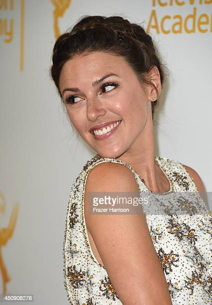 Actress Elizabeth Hendrickson attends Television Academy's Daytime Programming Peer Group's 41st Annual Daytime Emmy Nominees Celebration at The...