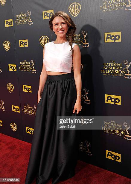 Actress Elizabeth Hendrickson attends The 42nd Annual Daytime Emmy Awards at Warner Bros Studios on April 26 2015 in Burbank California
