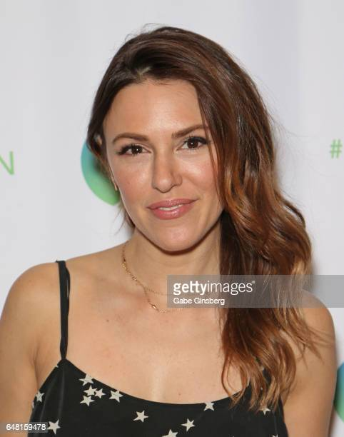 Actress Elizabeth Hendrickson attends the ClexaCon 2017 convention at Bally's Las Vegas on March 4 2017 in Las Vegas Nevada