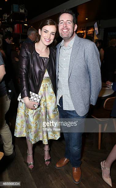 Actress Elizabeth Henstridge and Jacob Fenton attend Raising The Bar To End Parkinson's at Public School 818 on March 7 2015 in Sherman Oaks...