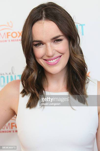 Actress Elizabeth Henstridge arrives at Raising The Bar To End Parkinson's at Laurel Point on July 27 2016 in Studio City California