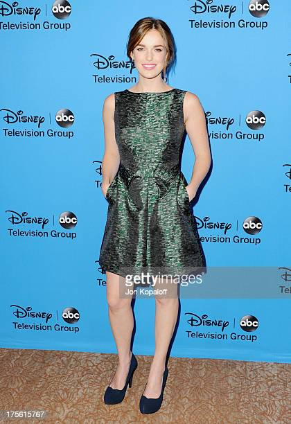 Actress Elizabeth Henstridge arrives at the Disney/ABC Party 2013 Television Critics Association's Summer Press Tour at The Beverly Hilton Hotel on...