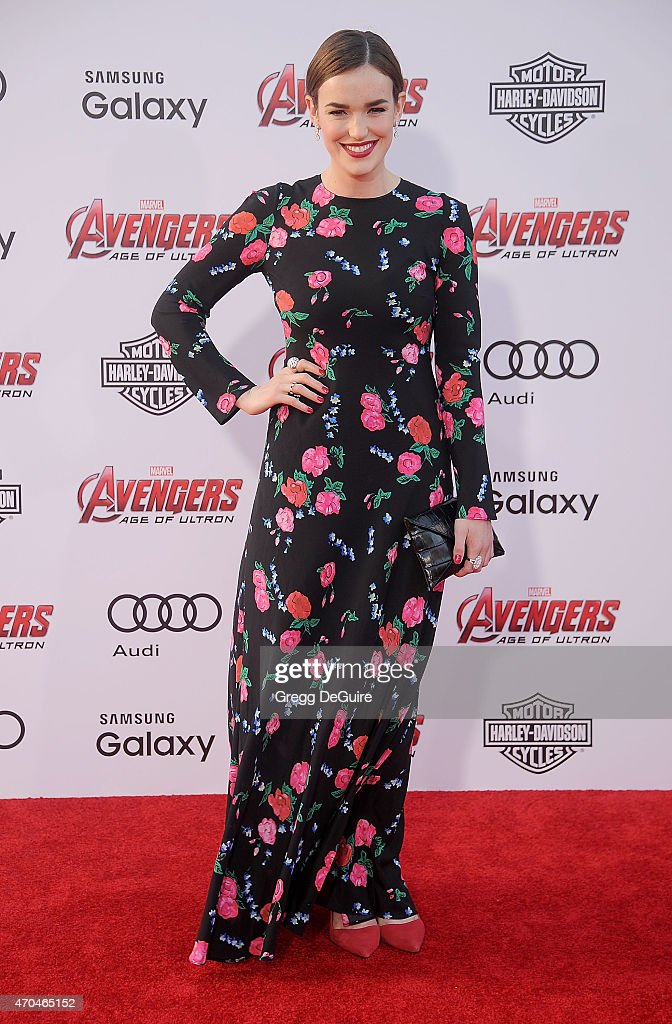 Actress Elizabeth Henstridge arrives at the Los Angeles premiere of Marvel's 'Avengers: Age Of Ultron' at Dolby Theatre on April 13, 2015 in Hollywood, California.