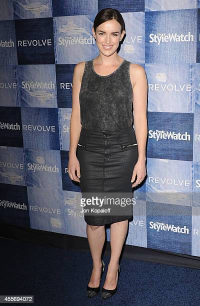 Actress Elizabeth Henstridge arrives at the People StyleWatch 4th Annual Denim Awards Issue at The Line on September 18 2014 in Los Angeles California