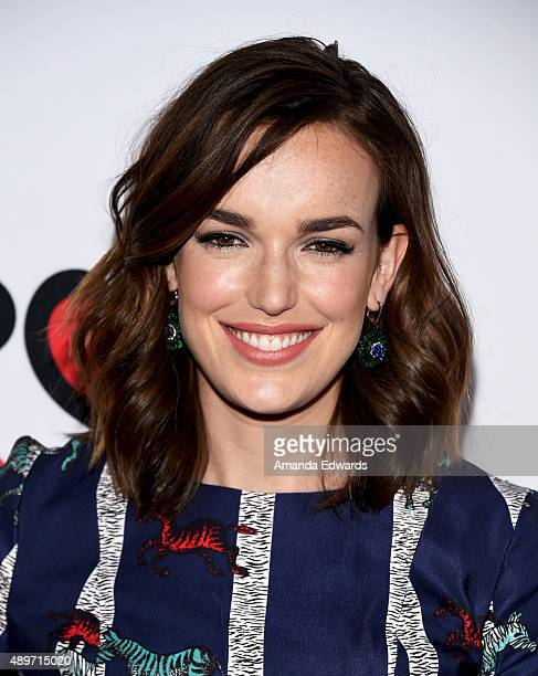 Actress Elizabeth Henstridge arrives at the premiere of Marvel's 'Agents Of SHIELD' at Pacific Theatres at The Grove on September 23 2015 in Los...