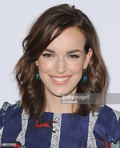 """Actress Elizabeth Henstridge arrives at the Premiere Of Marvel's """"Agents Of S.H.I.E.L.D."""" at Pacific Theatre at The Grove on September 23, 2015 in..."""