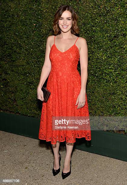 Actress Elizabeth Henstridge attends Claiborne Swanson Frank's Young Hollywood book launch hosted by Michael Kors at Private Residence on October 2...