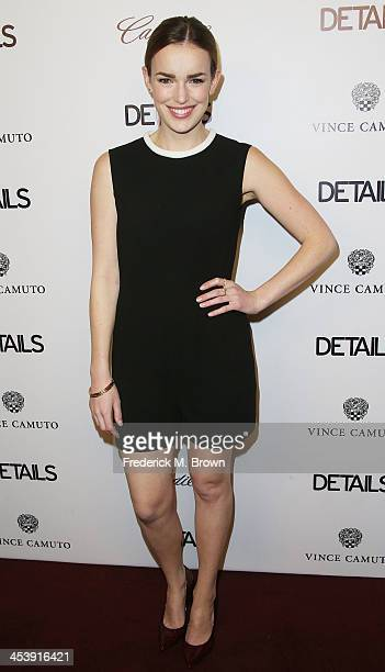 Actress Elizabeth Henstridge attends DETAILS Celebrates The 2013 Hollywood Mavericks at the Soho House on December 5 2013 in West Hollywood California