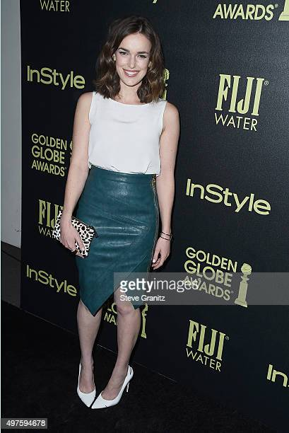 Actress Elizabeth Henstridge attends Hollywood Foreign Press Association and InStyle Celebration of The 2016 Golden Globe Award Season at Ysabel on...