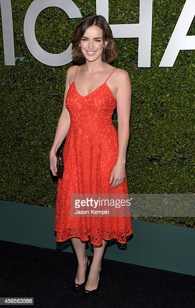 Actress Elizabeth Henstridge attends Michael Kors Launch of Claiborne Swanson Frank's Young Hollywood on October 2 2014 in Beverly Hills California