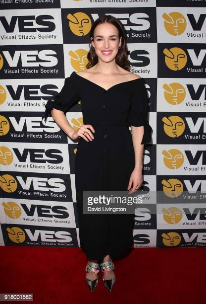 Actress Elizabeth Henstridge attends the 16th Annual VES Awards at The Beverly Hilton Hotel on February 13 2018 in Beverly Hills California