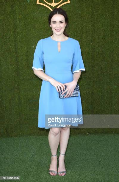 Actress Elizabeth Henstridge attends the 8th Annual Veuve Clicquot Polo Classic at Will Rogers State Historic Park on October 14 2017 in Pacific...
