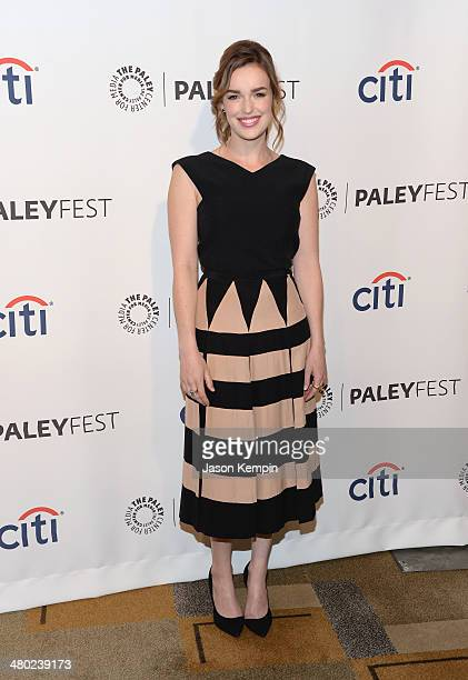 Actress Elizabeth Henstridge attends The Paley Center For Media's PaleyFest 2014 Honoring 'Marvel's Agents Of SHIELD' at Dolby Theatre on March 23...