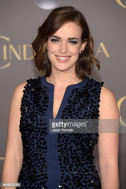 Actress Elizabeth Henstridge attends the premiere of Disney's Cinderella at the El Capitan Theatre on March 1 2015 in Hollywood California