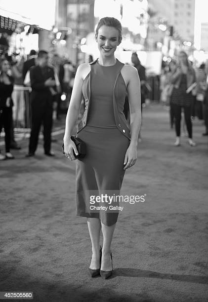 """Actress Elizabeth Henstridge attends The World Premiere of Marvel's epic space adventure """"Guardians of the Galaxy"""" directed by James Gunn and..."""